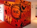 Nest rooftop bar bangkok thailand fine art mural entrance graffiti