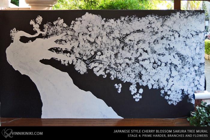 Sakura tree painting primer
