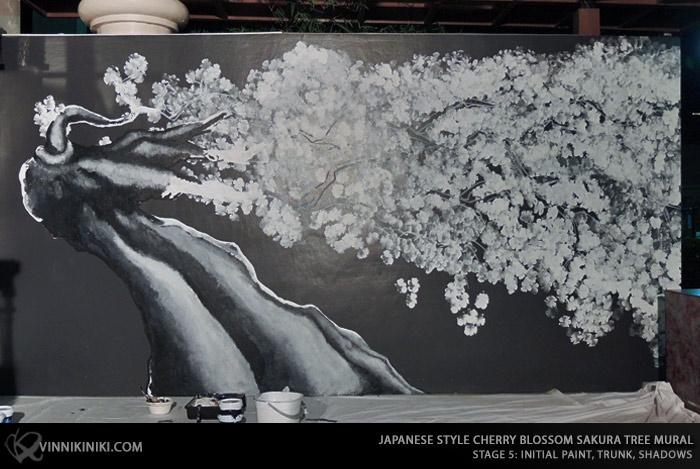 how to paint a Sakura