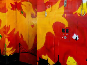 Hotel Phoenix Graffiti Mural Painting video