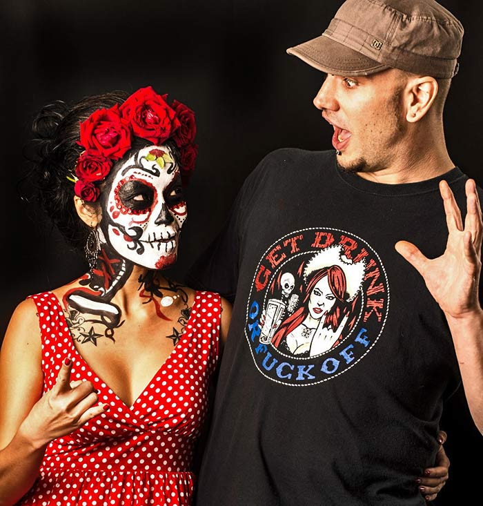 Sugar skull face paint with Vinni Kiniki