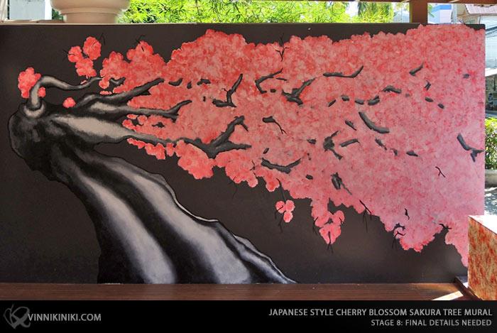 Sakura tree mural