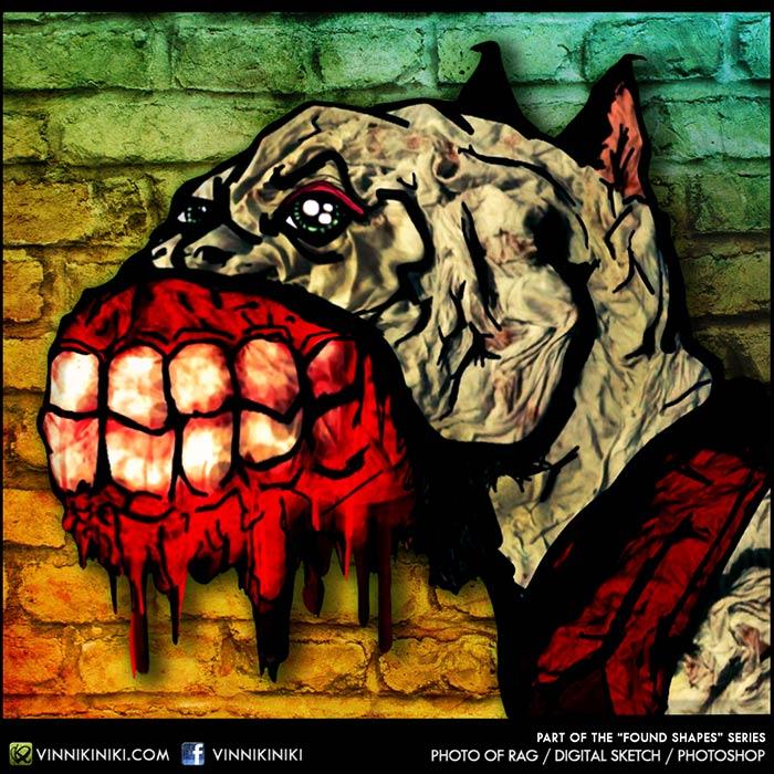 evil dog illustration