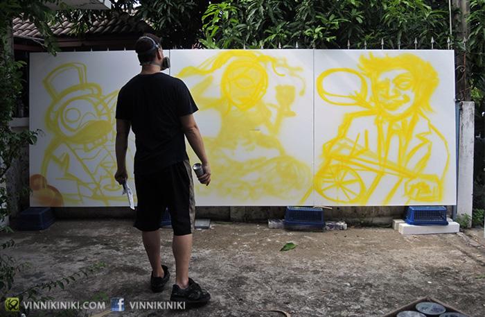 vinni kiniki graffiti art canvas