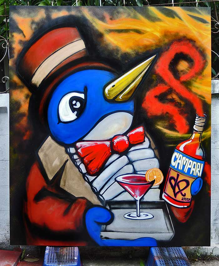 graffiti canvas campari art vinni kiniki