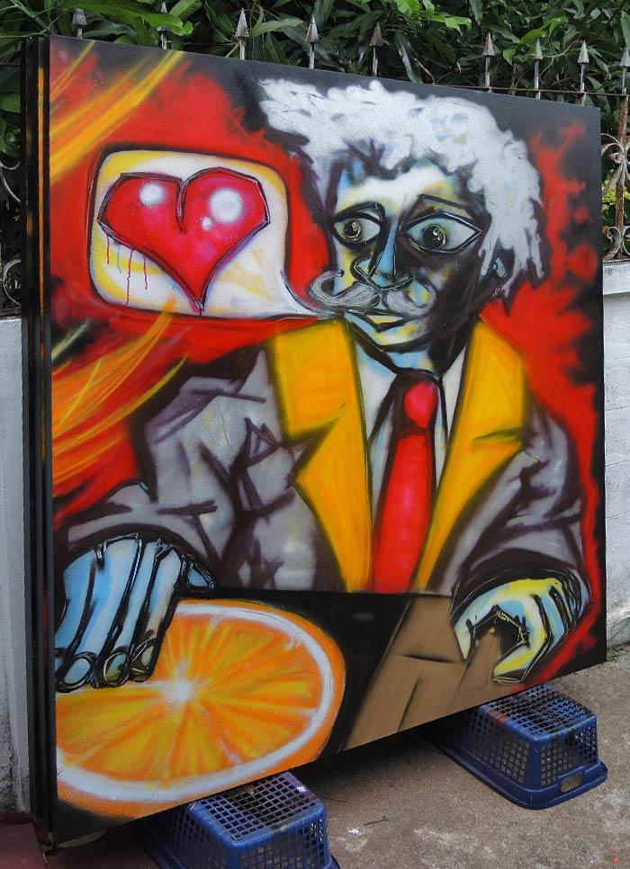 live graffiti for campari vinni kiniki